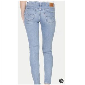 Levi's 711 Skinny Jeans Mid Rise 2 Long